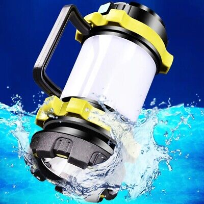AU24.85 • Buy Portable LED Camping USB Rechargeable Lantern Outdoor Tent Light Torch PowerBank