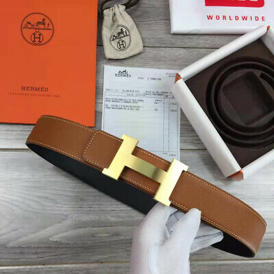 £289.31 • Buy HERMES Brown Leather Belt With Gold Buckle