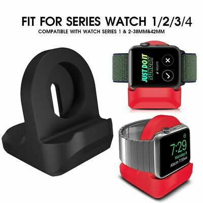 AU12.28 • Buy For Apple Watch 42mm/38mm Silicone Charging Dock Stand Holder Bracelet