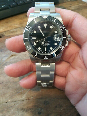 $ CDN313.30 • Buy Custom Mod Submariner Seiko NH35 Automatic Stainless Mens Diver Watch Nice!!!