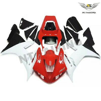 $549.99 • Buy MS Injection Fairing Kit Fit For Yamaha R1 YZF 2002-2003 Red White Plastics Z032