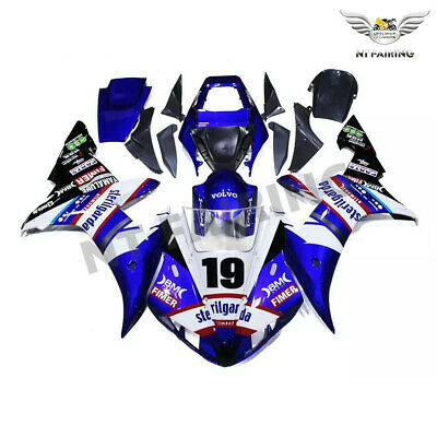 $549.99 • Buy MS Fit For Yamaha R1 YZF 2002-2003 Blue Injection ABS Fairing Plastics Kit Z043
