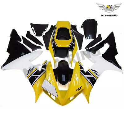 $549.99 • Buy MS Fit For Yamaha R1 YZF 2002-2003 Yellow Black Injection Mold Fairing Kit Z046