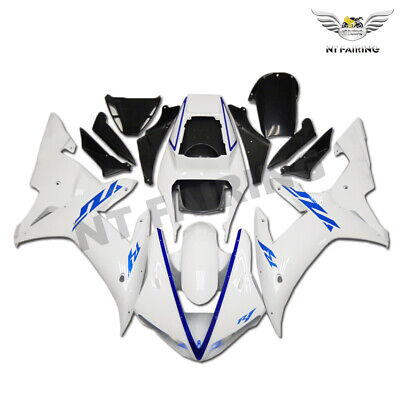 $549.99 • Buy MS Fit For 2002 2003 Yamaha YZF R1 Injection Mold Gloss White Fairing Kit Z027y
