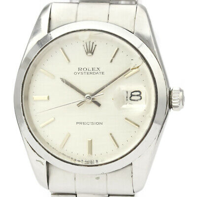 $ CDN2839.20 • Buy Vintage ROLEX Oyster Date Precision 6694 Steel Hand Winding Mens Watch BF523432