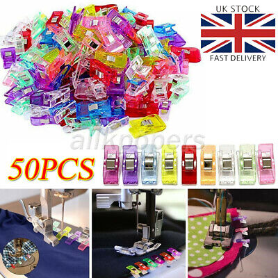 £3.69 • Buy 50x Wonder Clips For Quilting Fabric Knitting Sewing Crochet Craft Colorful DIY