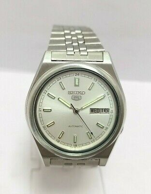 $ CDN34.98 • Buy Vintage Seiko 5 Automatic Day Date Movement No.7009A Japan Made Men's Watch.