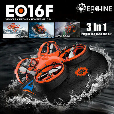 AU38.92 • Buy 3-in-1 Mini Drone For Kids Remote Control Boats For Pools Lakes Sea-Land-Air W@
