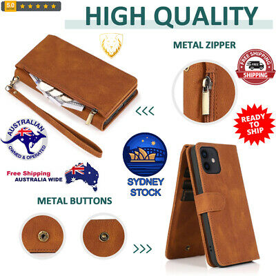 AU38.99 • Buy Horizontal Flip Leather Case With Holder&Card Slots &Wallet & Lanyard For IPhone