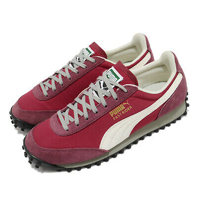 AU114 • Buy Puma Fast Rider SD Red White Men Unisex Vintage Classic Casual Shoes 371082-01
