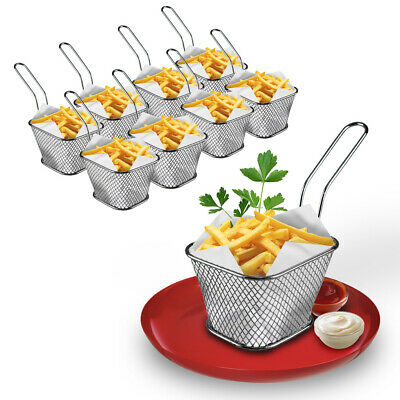 £13.62 • Buy Mini Chips Serving Baskets French Fries Crisps Food Dish Party Restaurant 8pc