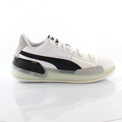 £49.99 • Buy Puma Clyde Hardwood White Lace Up Mens Trainers Basketball Shoes 193663 01