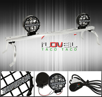 $100.99 • Buy Off Road 4X4 Fog Light Lamp Hid Kit + Roof Gutter Rack Mount+Wiring Switch