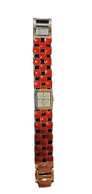 $ CDN47 • Buy Fossil  Watch Women Red Stones Quartz-new Battery. Gently Used.   Works Great.