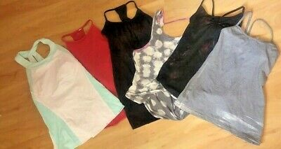 $ CDN24.98 • Buy Lot Of 6 LULULEMON Tank Tops Gym Garden Run Lounge Size 4 6 8 10 Black Red Gray