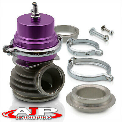$69.99 • Buy 50mm V-Band Cast Aluminum Exhaust Header Manifold Wastegate Turbo Charger Purple