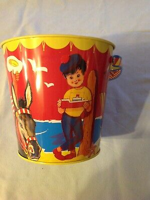 Ex Gift Shop Stock Metal Seaside Bucket 5 And A Half Inch By 5 And A Half Inches • 2£