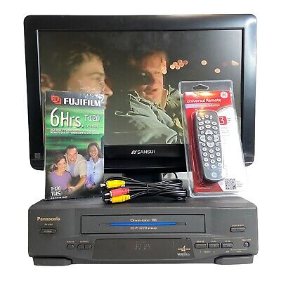 AU64.62 • Buy Panasonic VCR VHS Player/Recorder OMNIVISION 4 HEAD PV-4561 - Actually Tested