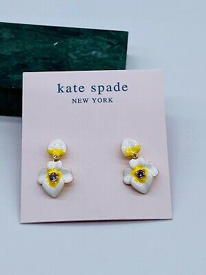 $ CDN11.27 • Buy Kate Spade Enamel Flowers Earrings