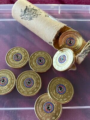 AU9.49 • Buy 2021 Indigenous Military Service Lest We Forget $2 Dollar Coin From RAM Roll UNC