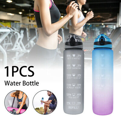 £9.59 • Buy 1 L Sports Water Bottle Gym Travel Leakproof Drinking Bottle With Straw BPA Free