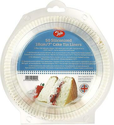 Tala 50 Siliconised 18 Cm / 7 Inch Cake Tin Liners • 8.57£