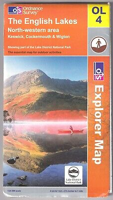 ORDNANCE SURVEY EXPLORER MAP: THE ENGLISH LAKES - North Western Area (Keswick Et • 5.95£