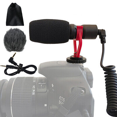 £10.99 • Buy Interview Video Recording Camera Microphone For Nikon Canon DSLR 3.5mm Cellphone