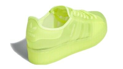 AU69.35 • Buy Adidas Original Superstar Jelly Shoes Trainers New Size UK 4.5 Solar Yellow