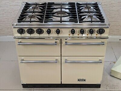 £1575 • Buy Falcon 100cm  Dual Fuel In Cream & Chrome Range Cooker With Hood A484