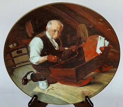 $ CDN37.48 • Buy Vintage Collector Plate Norman Rockwell Grandpa's Gift #10157C Edwin M. Knowles