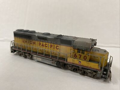 AU96.94 • Buy N Scale Atlas Custom Union Pacific GP40 UP 670 Weathered Grab Irons Etc