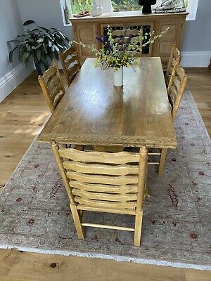 AU779.40 • Buy French Provincial European Oak Dining Table (**Chairs Included**)
