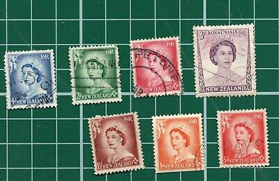 AU2.41 • Buy 7x Vintage New Zealand Stamps Good Used