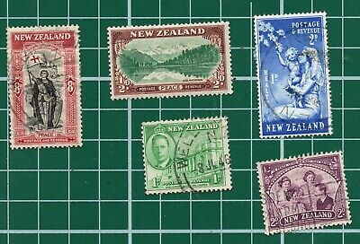 AU2.41 • Buy 5x Vintage New Zealand Stamps Good Used Some Creasing
