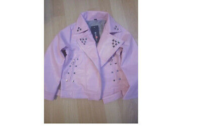 £37.99 • Buy Pink PU Leather Baby Girl Jacket With Decoration Size 3T