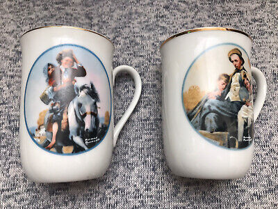 $ CDN14.06 • Buy Lot Of 2 Norman Rockwell Japan Fine Porcelain Made Exclusively For Imm Mugs
