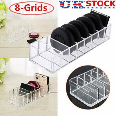 £9.89 • Buy 8 Grid Acrylic Cosmetic Palette Eye Shadow Makeup Organizer Drawer Stand Case UK