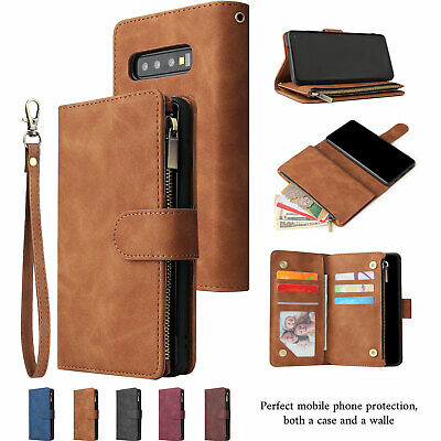 AU12.98 • Buy For Samsung Galaxy S20 S10S9S8 Plus Note20 Ultra 9 10 Zipper Leather Wallet Case