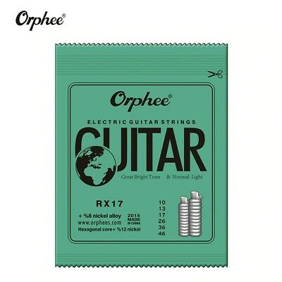$ CDN1.24 • Buy Orphee Electric Guitar Strings 10-46 Nickel Alloy 6Pcs 6 String Set 10s Light