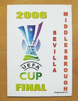 £6.24 • Buy 2006 UEFA Cup Final MIDDLESBROUGH V SEVILLA Pirate Football Programme *Exc Cond*