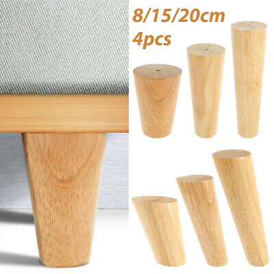 AU33.61 • Buy 4pc Wooden Furniture Legs Taper Modern Retro Couch Sofa Cabinet Table 8/15/20cm