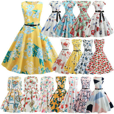 AU20.99 • Buy Womens 50s 60s Hepburn Vintage Rockabilly Evening Gowns A-Line Swing Party Dress