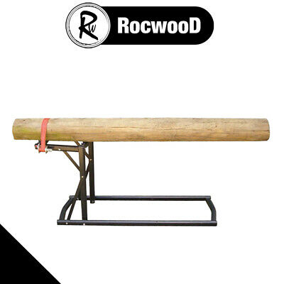 £39.95 • Buy Saw Horse Log Holder Wood RocwooD Easy Load Fast Cut Deluxe For Chainsaw Cutting