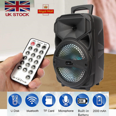 £29.99 • Buy 8 Inch 1000W Powered LED Bluetooth Wireless Speaker Stereo Bass With USB&TF Card