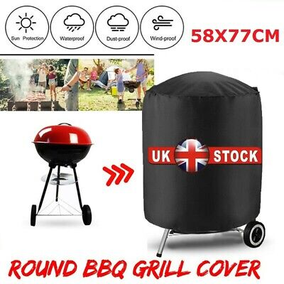 £7.93 • Buy Round Garden BBQ Cover Gas Kettle Heavy Duty Waterproof Barbecue Grill Protector