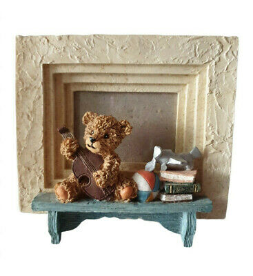 Handmade 3-D Teddy Bear picture frame with magnetic back xv1
