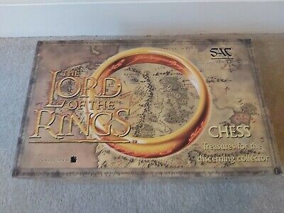 £310 • Buy Lord Of The Rings SAC Studio Anne Carlton Fellowship Of The Ring Chess Set