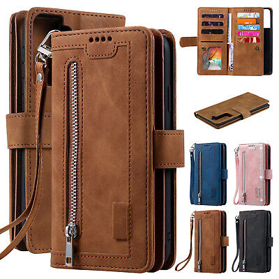 AU14.39 • Buy Zipper Leather Wallet Case For Samsung Galaxy S21 Ultra Plus S20 FE 5G S10 S9 S8
