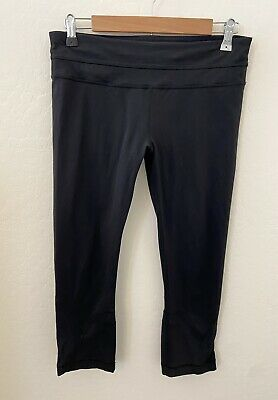 $ CDN1.24 • Buy Lululemon Inspire Tight Leggings Sz 10 Black Pocket 7/8 Crop